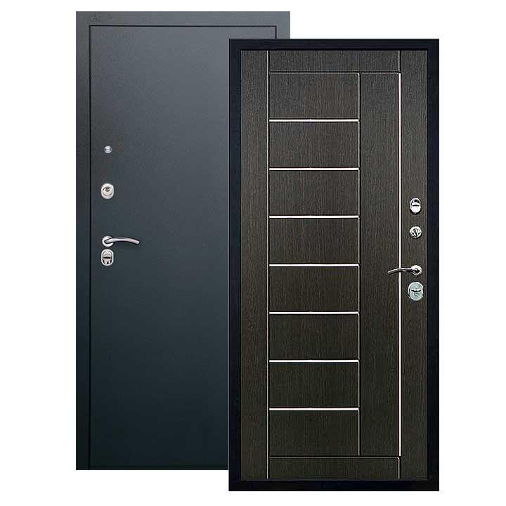 Дверь Фриза панель венге, покрытие черный шелк