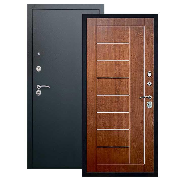 Дверь Фриза панель золотой дуб, покрытие черный шелк