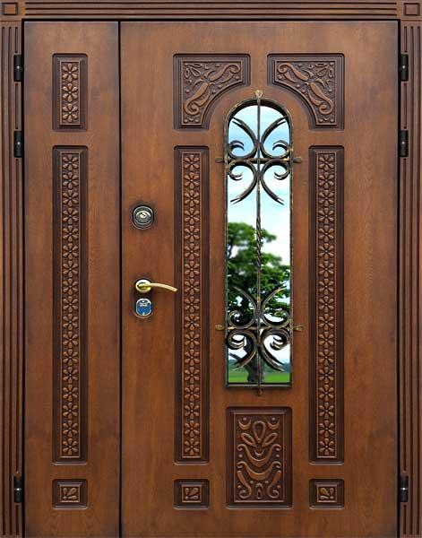 дверь входная металлическая двустворчатая купить