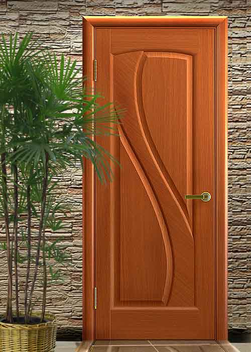 Межкомнатная дверь прямая цвет темный анегри