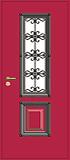 Дверь уличная с ковкой