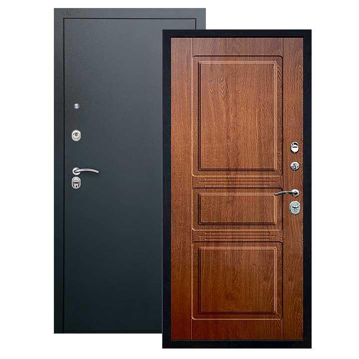 Дверь Сабина панель дуб золотой, покрытие черный шелк