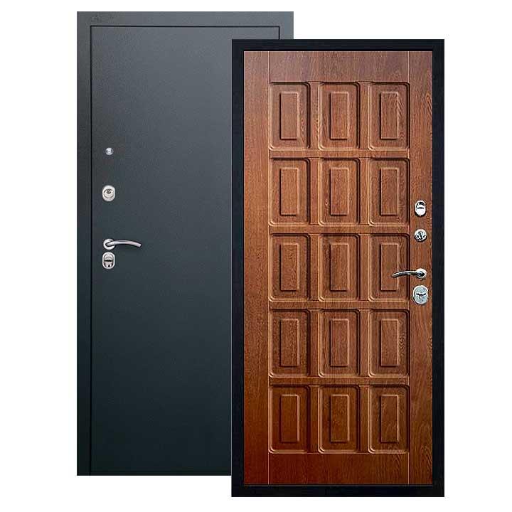 Дверь Шоколад панель золотой дуб, покрытие черный шелк