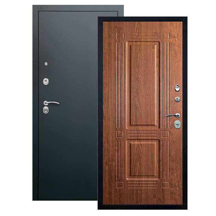 Дверь Триумф панель золотой дуб, покрытие черный шелк