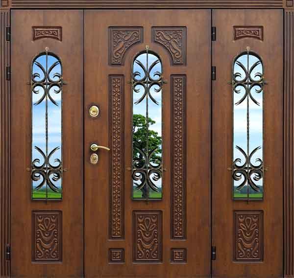 металлические двери уличные распашные